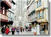 Zentrum von Quimper, Bretagne