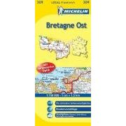 Landkarte Bretagne Ost