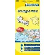 Landkarte Bretagne West